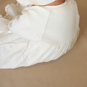 【お宮参り 新生児 退院時用 ベビードレス セレモニードレス】お帽子付き2点セット ベージュ babynetshop 09