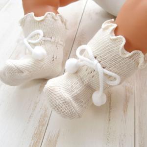 オーガニックコットン 新生児用ソックス 8センチ ベビー靴下 日本製 66086|babynetshop