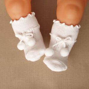 新生児用ソックス 8センチ ベビー靴下 66086 ホワイト|babynetshop
