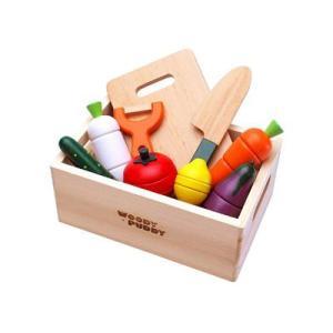 木のおもちゃ はじめてのおままごと サラダセットの商品画像|ナビ