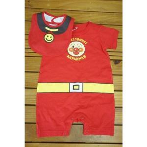 クリアランス  アンパンマンなりきりスタイ付き半袖カバーオールSA4447|babyshop