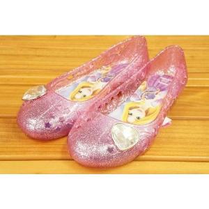 コマリヨー キラキラ光るガラスの靴風シューズ ラプンツェル6961