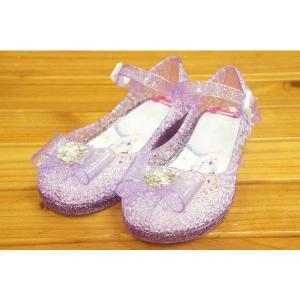 コマリヨー キラキラ光るガラスの靴風シューズ ソフィア7332-01