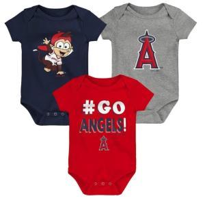 メジャーリーグ エンゼルス ロンパース ベビー 3着セット 出産祝い ギフト セット Los Angeles Angels Bodysuit 送料無料 通販 WSC SPORTS LOUNGE babysports