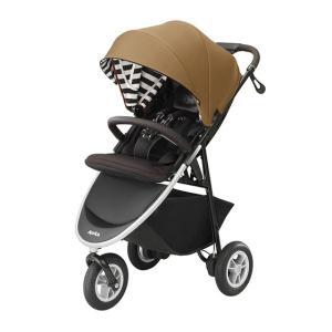 赤ちゃんもママもストレスフリーにおでかけできる、生後1カ月から使える3輪ベビーカー。  空気入れ不要...
