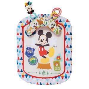 Disney baby ミッキーマウス プロップマット クッション・おもちゃ付き プレイマット/ごろ寝マット|babytown