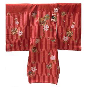 女の子 お宮参り用着物 お初着 正絹 仕立て上がり産着 (金(赤地)/カナザワ)|babytown