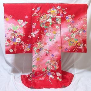 女の子 お宮参り用 お初着 正絹 (31詩/赤地に毬と花柄)|babytown