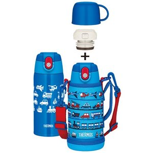 サーモス 真空断熱2ウェイボトル/FJA-600WF ライトブルー(LB) 0.62L/0.6L 保温保冷水筒|babytown