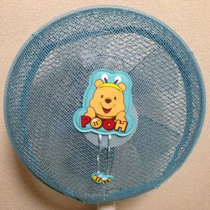 くまのプーさん顔 扇風機カバー ブルー ディズニーキャラクター FC8-BB ☆メール便対応☆|babytown