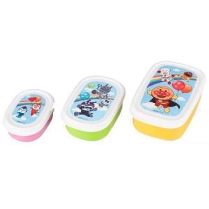 レック アンパンマン・バイキンマン・ドキンちゃん ANランチコンテナー3個組 キッズ・子供用お弁当箱 (キャラクターランチグッズ)|babytown