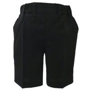 男児フォーマル 黒無地ハーフパンツ 80・90・95・100cm 9999|babytown