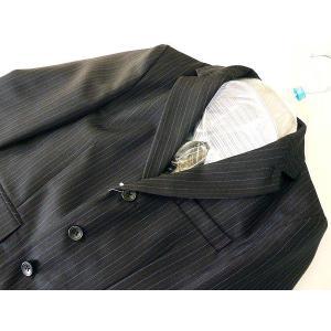 フォーマルスーツセット キッズ・ジュニア 男の子 ブラック/95〜130cm ピンストライプ 22511|babytown|03