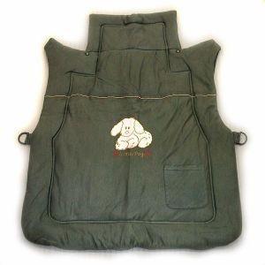 産後用ママコート 亀の甲/グレー犬柄 フード付き 846-20350