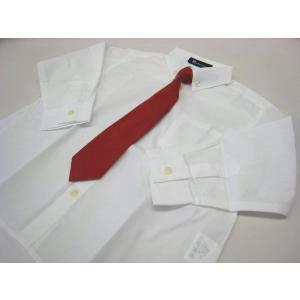 男児フォーマル 長袖白シャツ 赤ネクタイ付き 80・90・95・100cm 8316|babytown
