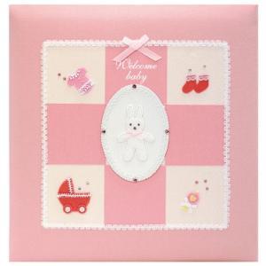 ナカバヤシ フエルアルバム ウェルカムベビー アH-LB-501-Pピンク (名入れ対応)|babytown