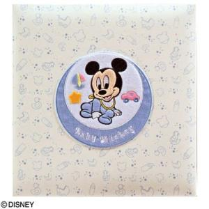 ナカバヤシ ディズニーベビーフエルアルバム ベビーミッキー&フレンズ ア-LB-617-1 ミッキーマウス (名入れ対応)|babytown