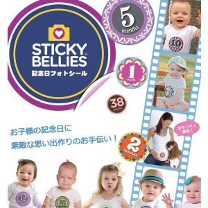 STICKY BELLIES スティッキーベリーズ 正規代理店 記念日 シール フォト メモリアル ステッカー 赤ちゃん 写真 アルバム ベビー 出産祝い ギフト|babywest