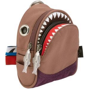 ポーチ MORN CREATIONS シャーク ポーチ モーンクリエイションズ サメ ショルダーポーチ ブラウン back