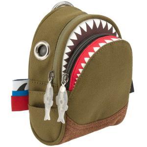 ポーチ MORN CREATIONS シャーク ポーチ モーンクリエイションズ サメ ショルダーポーチ グリーン back