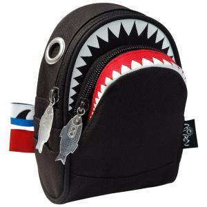 ポーチ MORN CREATIONS シャーク ポーチ モーンクリエイションズ サメ ショルダーポーチ ブラック back
