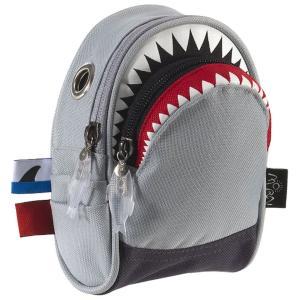ポーチ MORN CREATIONS シャーク ポーチ モーンクリエイションズ サメ ショルダーポーチ グレー back