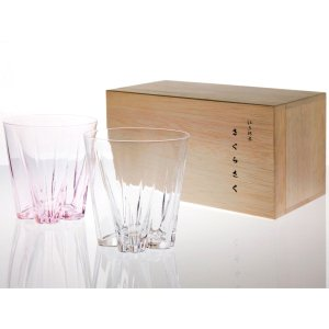 冷酒グラス サクラサクグラス 紅白ペアセット SAKURASAKU glass サケ|back
