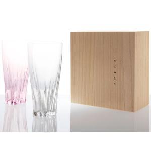 ビールグラス サクラサクグラス 紅白ペアセット SAKURASAKU glass ピルスナー|back