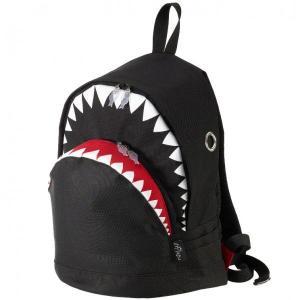 リュック MORN CREATIONS シャーク バックパック Lサイズ モーンクリエイションズ サメ リュックサック ブラック back