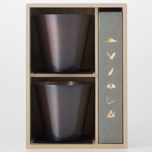 ロックグラス WDH 純銅製オールド 460ml&スプーン 2セット 銅製品 ダブリューディーエイチ ブラウン|back