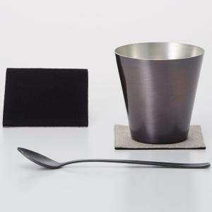 ロックグラス WDH 純銅製オールド 460ml&スプーン セット 銅製品 ダブリューディーエイチ ブラウン|back