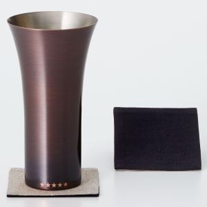タンブラー WDH 純銅製タンブラー 380ml 銅製品 ダブリューディーエイチ ビールグラス ブラウン|back