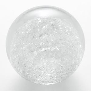 ペーパーウェイト 雪花ガラス 球型 Lサイズ SECCA 2|back