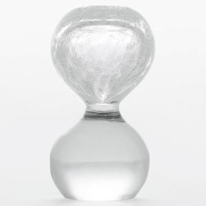 ペーパーウェイト 雪花ガラス 砂時計型 SECCA 3|back