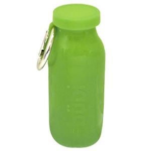 水筒 bubi 450ml ブビ シリコンボトル グリーン back