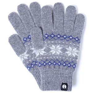 【2500円以上で送料無料】手袋 iTouch Gloves Patterns S アイタッチグローブ パターン Sサイズ レディース ジャカード グレー|back