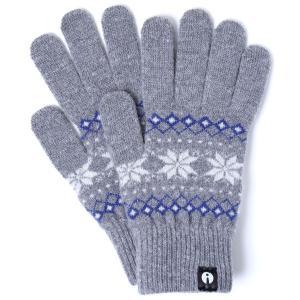 【2500円以上で送料無料】手袋 iTouch Gloves Patterns L アイタッチグローブ パターン Lサイズ メンズ ジャカード グレー|back