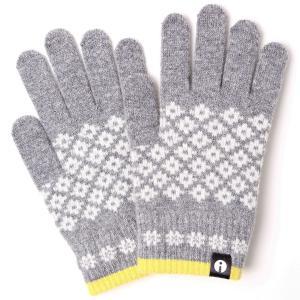 【2500円以上で送料無料】手袋 iTouch Gloves Patterns S アイタッチグローブ パターン Sサイズ レディースダイヤ ライトグレー|back
