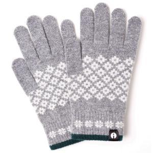 【2500円以上で送料無料】手袋 iTouch Gloves Patterns L アイタッチグローブ パターン Lサイズ メンズ ダイヤ ライトグレー|back