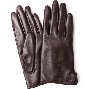 手袋 iTouch Gloves Leather S アイタッチグローブ レザー 本革 Sサイズ レディース ブラウン|back