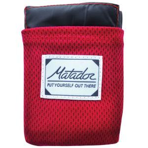 レジャーシート Matador ポケットブランケット バージョン2.0 おしゃれでクールなレジャーアイテム! マタドール Pocket Blanket 2.0 オリジナルレッド|back