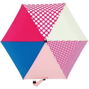 折りたたみ傘 +RING coco Sサイズ 50cm レディース おしゃれ プラスリング 折傘 女性用 T544 水玉 ピンク|back
