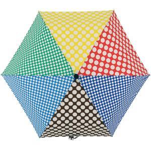 折りたたみ傘 +RING coco Sサイズ 50cm レディース おしゃれ プラスリング 折傘 女性用 T547 水玉 ブルー ブラウン レッド|back