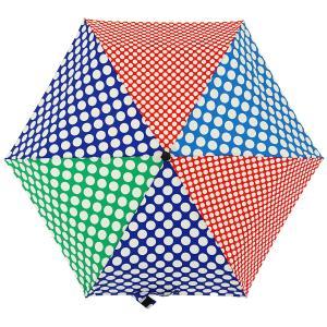折りたたみ傘 +RING coco Sサイズ 50cm レディース おしゃれ プラスリング 折傘 女性用 T548 水玉 ブルー グリーン|back