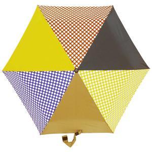 折りたたみ傘 +RING coco Sサイズ 50cm レディース おしゃれ プラスリング 折傘 女性用 T550 水玉 ブルー ブラウン ネイビー|back