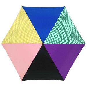 折りたたみ傘 +RING coco Mサイズ 55cm レディース メンズ おしゃれ プラスリング 折傘 男女兼用 T393 ドット イエロー ブルー|back