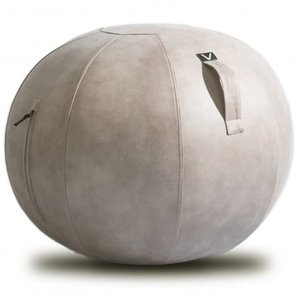 シーティングボール Vivora ルーノ レザーレット 合皮 おしゃれ!お部屋に置きたいインテリア性! ヴィボラ LUNO LEATHERETTE ライトグレー|back