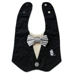 出産祝い アマブロ MOOMIN BABY BIB&RATTLE 出産お祝いギフト amabro スタイとガラガラ  ギフトセット ムーミンパパ|back