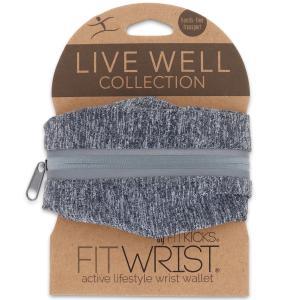 リストウォレット フィットキックス LiveWell FITWRIST リストポーチ リストバンド スポーツ FITKICKS ライブウェル リストウォレット グレー|back