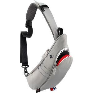 ウエストポーチ モーンクリエイションズ シャークスリングバッグ 2019新作 ウエストバッグ MORN CREATIONS サメ シャークバッグ グレー back
